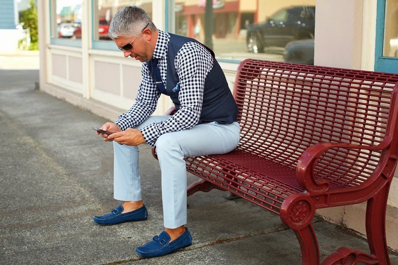My Style with Blue & Black Checks – Seattle Men's Fashion Blog