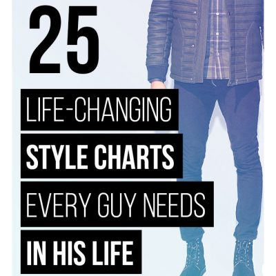 25 Life-Changing Style Charts Every Man Needs